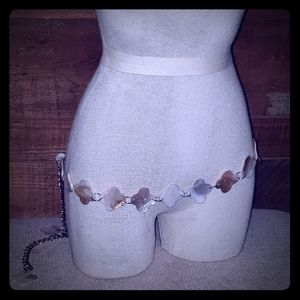 Homemade mother of pearl belt up to 40 inch waist